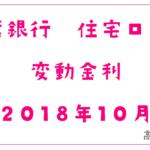 千葉銀行2018年10月の住宅ローン変動金利