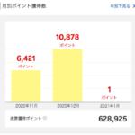 2020年12月に獲得した楽天スーパーポイントは10,878ポイント。